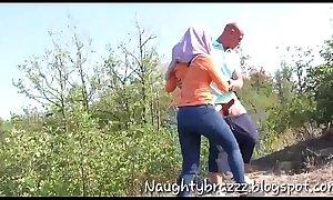 Muslim couple having sex outdoor