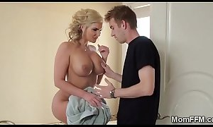 Perv pounds his breathtaking golden-haired stepmom up her gazoo gap