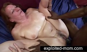 Aged whore enticing chubby dusky cock less granny lovemaking film over