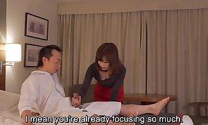 Subtitled cfnm japanese caravanserai milf knead leads hither handjob