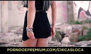 CHICAS LOCA - Cum eating in public sex session