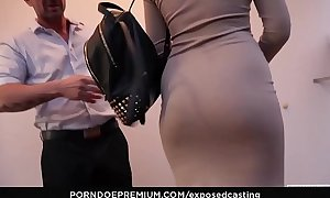 EXPOSED CASTING - Sexy Russian redhead Eva Berger squirts in naughty hardcore audition