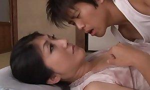 Japanese sleeping mommy