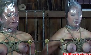Bdsm thrall duet punished in maledoms dungeon