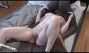 Turkish Bitch vs. big black cock - First time