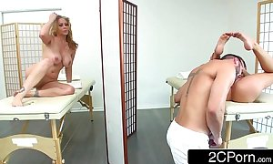 Milf julia ann and her stepdaughter kendall kayden enjoying large dong at the spa
