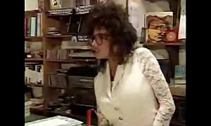 Vanessa at a difficulty bookstore